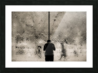 Urban Loneliness - Rain Picture Frame print