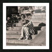 Urban Loneliness - Crying Picture Frame print