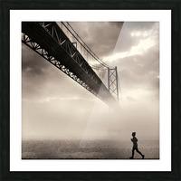 Urban Loneliness - The Bridge Picture Frame print