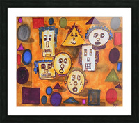 shapes Picture Frame print