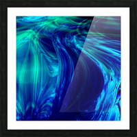 Glasswaves Picture Frame print