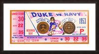 1953 Duke vs. Navy  Picture Frame print