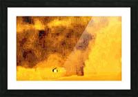 Golden Hieroglyphic Picture Frame print
