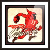 1956 Chicago Cardinals Viewfinder Slide Art Picture Frame print