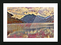 Lake Crescent Picture Frame print