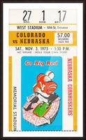 1973 Nebraska Cornhuskers vs. Colorado Buffaloes Picture Frame print