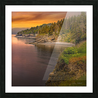 Vue Ouest Anse St-Georges Picture Frame print