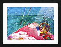 At the Wheel of The Sea Ray Picture Frame print