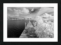 Wabasso Causeway Florida with boat dock Picture Frame print