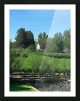 Fields of Green Picture Frame print