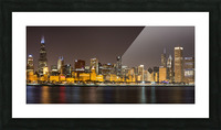 Chicago Skyline Picture Frame print