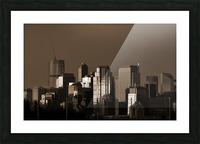Calgary Skyline Picture Frame print