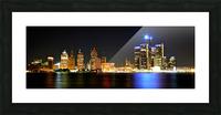 Detroit Skyline Picture Frame print