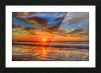 Golden Sea Picture Frame print