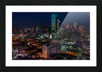 Dallas Skyline Picture Frame print