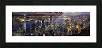Hong Kong city  Picture Frame print