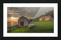 Hangar et chaloupe de la maison Xavier-Blanchette Picture Frame print