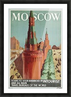 Moscow Vintage Travel Poster Picture Frame print