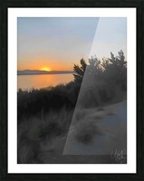Sunset Over Lake Picture Frame print