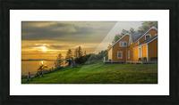 Maison Xavier-Blanchette Embleme du parc Forillon Picture Frame print