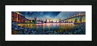 Brooklyn Cove Panorama Painting  Picture Frame print
