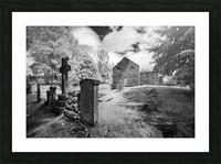 Infrared Scotland graveyard Picture Frame print