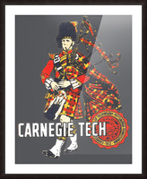 1950s Carnegie Tech Tartans Vintage Art   Row 1 Picture Frame print