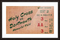 1948 Dartmouth Indians vs. Holy Cross Crusaders | Row 1 Picture Frame print