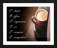 coffee Picture Frame print