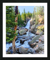 Alberta Falls Picture Frame print