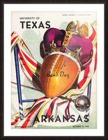 1948 Texas Longhorns vs. Arkansas Razorbacks | Row 1 Picture Frame print