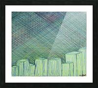Greenblocks Picture Frame print
