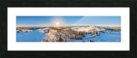 Above the Top of the World Picture Frame print