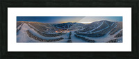 Valley Twilight Wide Picture Frame print