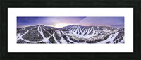 Valley Sunset Wide Picture Frame print
