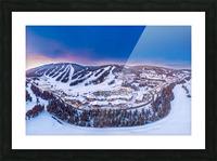 Village Sunset Picture Frame print
