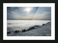 Descent to the Clouds Picture Frame print