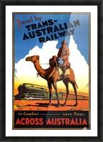 Trans Australian Railway travel poster Picture Frame print