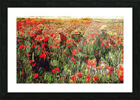 Hidden in the Poppy Fields Picture Frame print