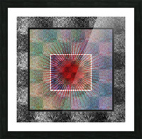 Layers of my Heart Picture Frame print