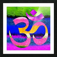 Om Waves Picture Frame print