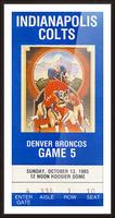 1985 Denver Broncos vs. Indianapolis Colts | Row 1 Picture Frame print