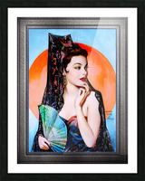 Gene Tierney as Lola Montez by Henry Clive Vintage Xzendor7 Old Masters Art Deco Reproductions Picture Frame print