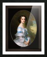 Melanie Renouard de Bussiere by Franz-Xaver Winterhalter Fine Art Xzendor7 Old Masters Reproductions Picture Frame print