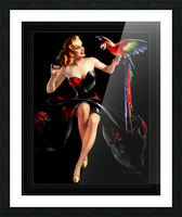 Polly Wants A Cracker by Bradshaw Crandell Vintage Xzendor7 Old Masters Art Deco Reproductions Picture Frame print