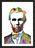 Abraham Lincoln original watercolor  Picture Frame print