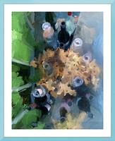 Wine Bottles Picture Frame print