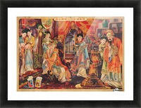 Vintage Chinese Cigarette Advert Picture Frame print