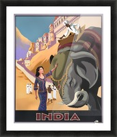 Visit Colorful India Vintage Travel Poster Picture Frame print