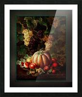 Pumpkin Platter by Johan Laurentz Jensen Classical Fine Art Xzendor7 Old Masters Reproductions Picture Frame print